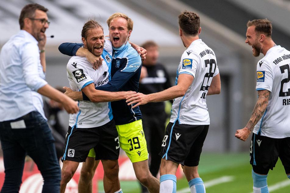 Freude bei den Münchner Löwen: Sie stehen jetzt schon als Finalist im Toto-Pokal fest.