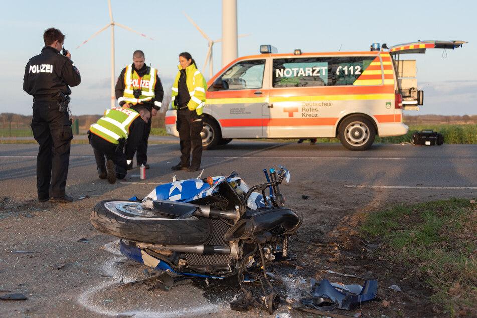 Tödlicher Motorrad-Unfall auf der Landstraße