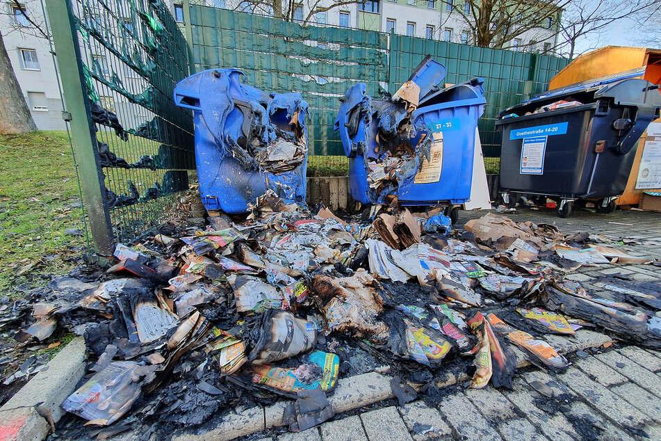 Schon wieder! Mehrere Container in Chemnitz abgefackelt