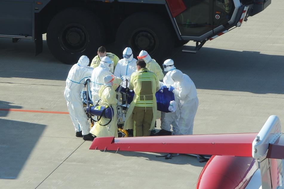 Insgesamt werden drei Corona-Patienten aus Frankreich nach Dresden gebracht.