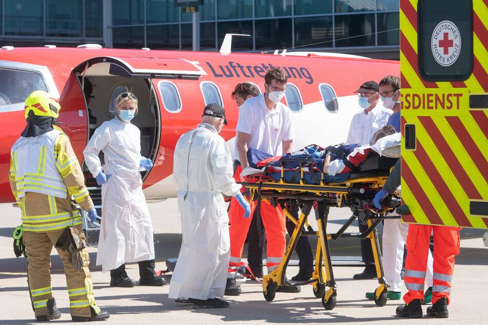 Im April 2020 wurden 14 Patienten aus Frankreich und Italien in Sachsen aufgenommen.