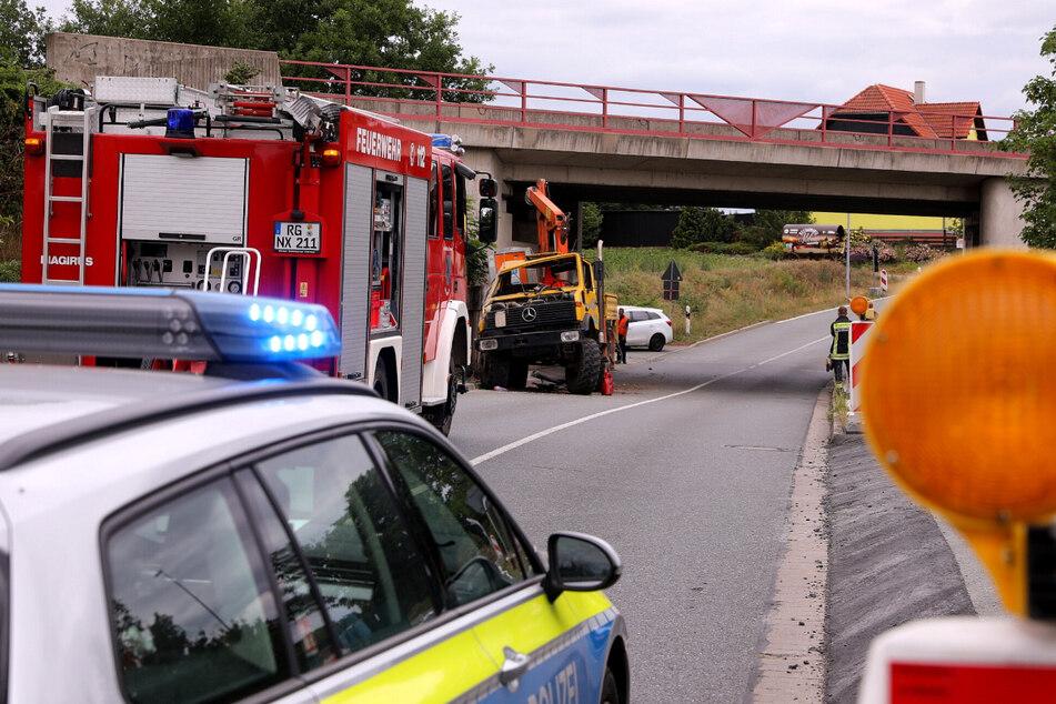Polizei und Feuerwehr wurden am Mittwochmittag zum Einsatz nach Nünchritz gerufen.