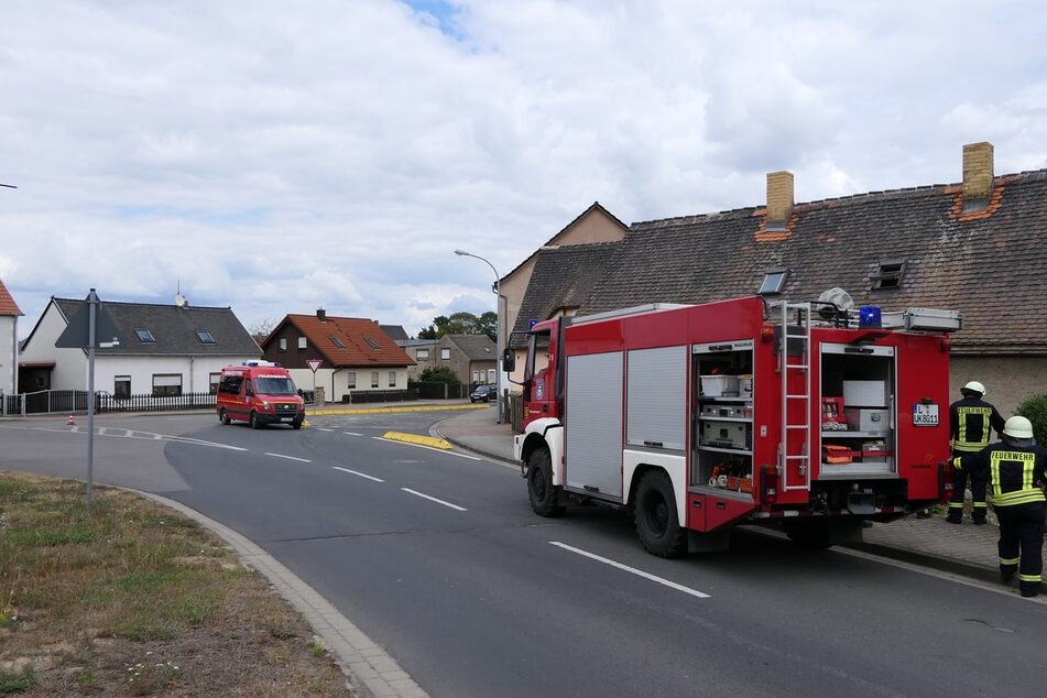 Die Freiwilligen Feuerwehren aus der Umgebung waren im Einsatz.