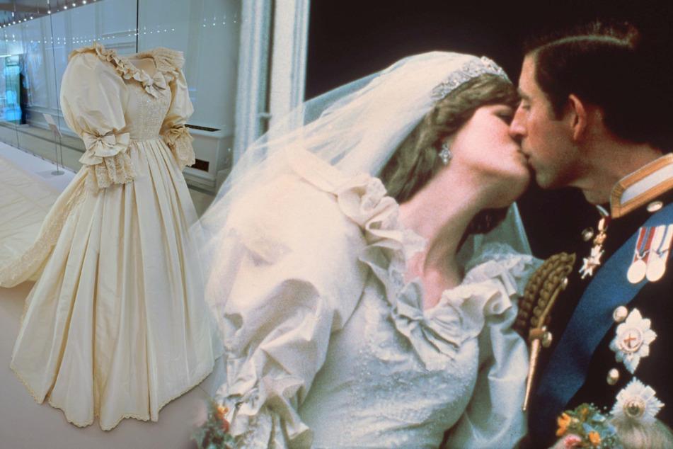 Legendäres Hochzeitskleid von Prinzessin Diana zu sehen