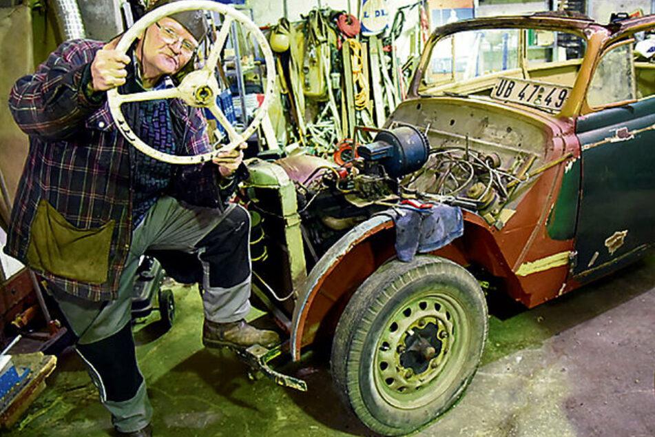 Leipzig: Opel Olympia Cabrio von 1938: Wie ein sächsischer Rentner seiner alten Liebe neues Leben einhaucht