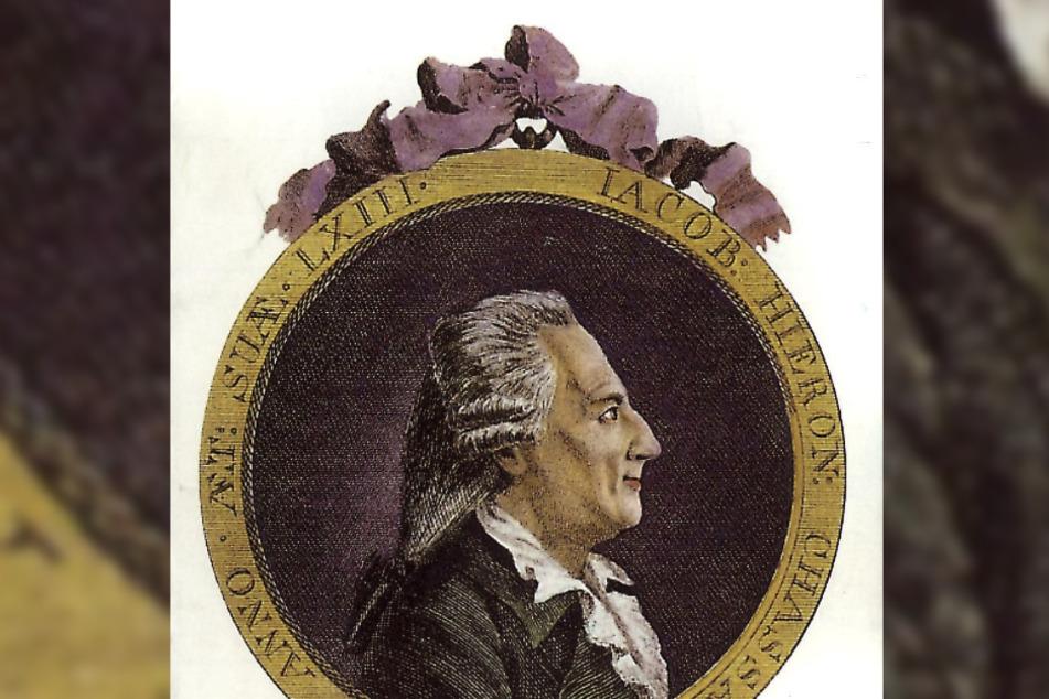Medaillon: Casanova kam öfters nach Dresden. Er hatte Familie hier.