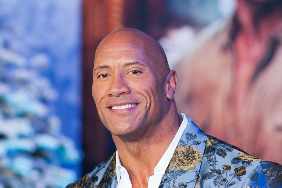"""Dwayne """"The Rock"""" Johnson (48) at the Premiere of Jumanji: The Next Level in Hollywood in December 2019."""