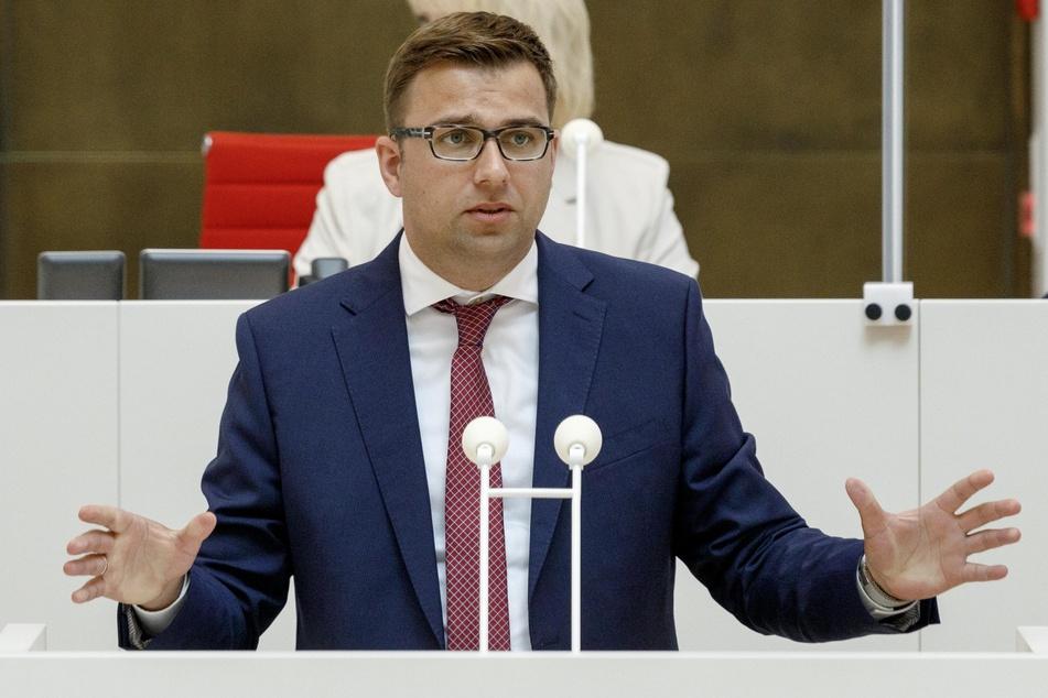 Erik Stohn (37, SPD), Fraktionsvorsitzender in Brandenburg.