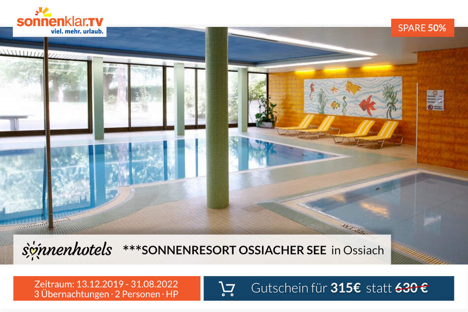 Die Poolanlage im 3* Sonnenresorts Ossiacher See in Ossiach.