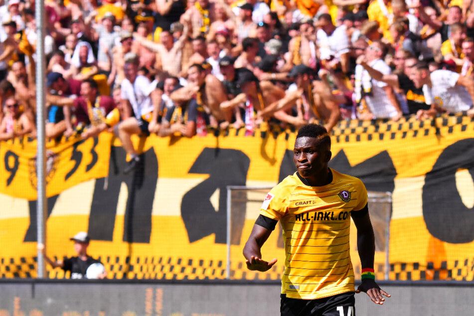 Moussa Koné erzielte für Dynamo Dresden in 62 Einsätzen 23 Tore und gab zehn direkte Vorlagen.