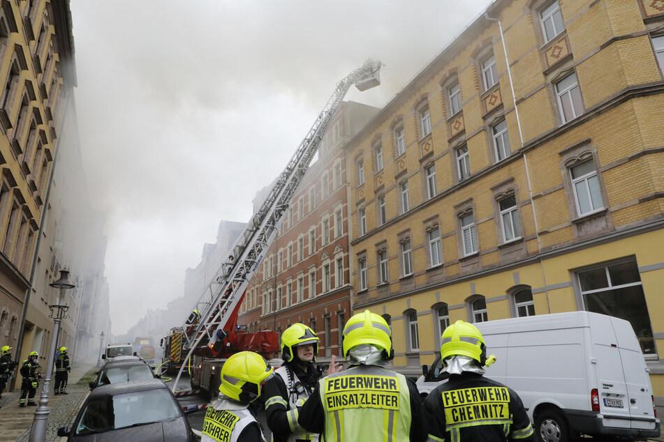 Dachstuhlbrand in Chemnitz: Das sagen die Ermittler zur Brandursache