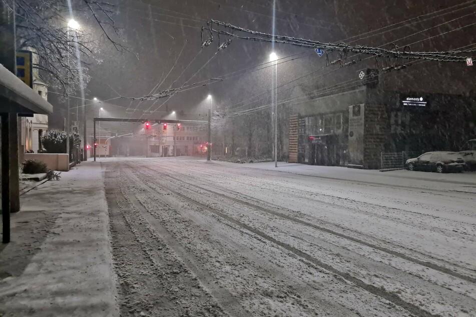 Auch in Solingen fielen einige Zentimeter Schnee vom Himmel.
