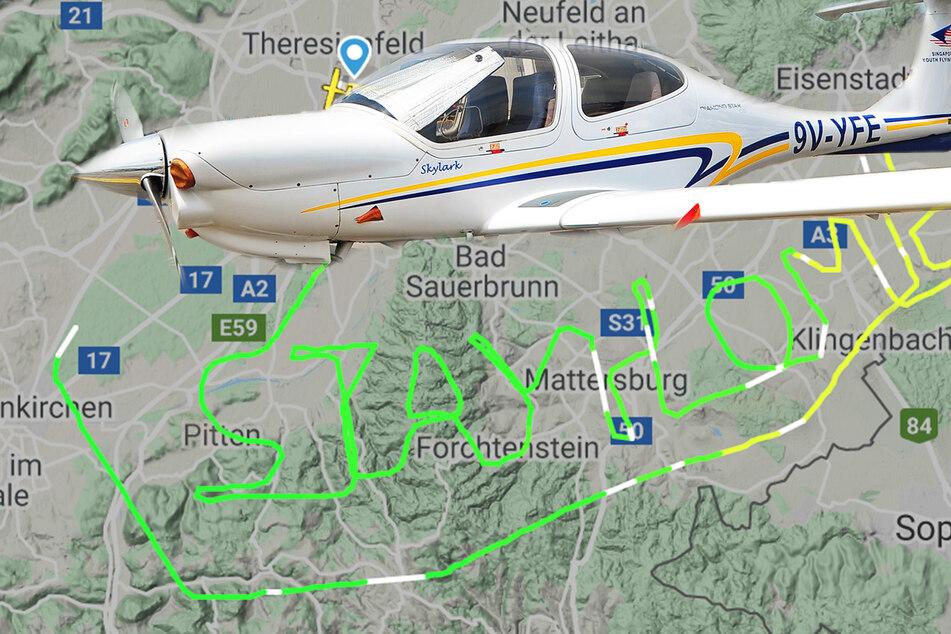 Pilot fliegt eindringliche Corona-Botschaft in den Himmel