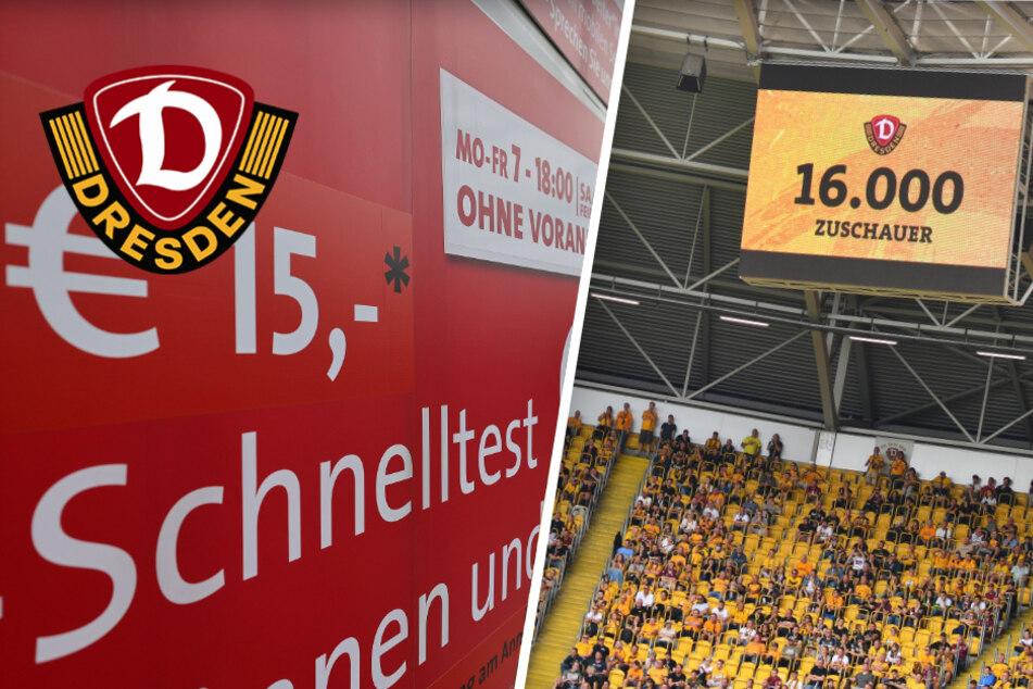 Dynamo setzt gegen 1. FC Nürnberg wieder auf 3G-Regel: Schnelltest vorm Stadion kostet 13 Euro
