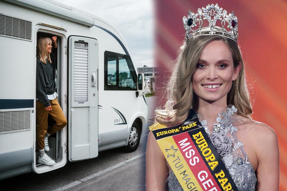 Dresden: Große Freiheit auf vier Rädern: Sachsens Ex-Miss-Germany campt für ihr Leben gern