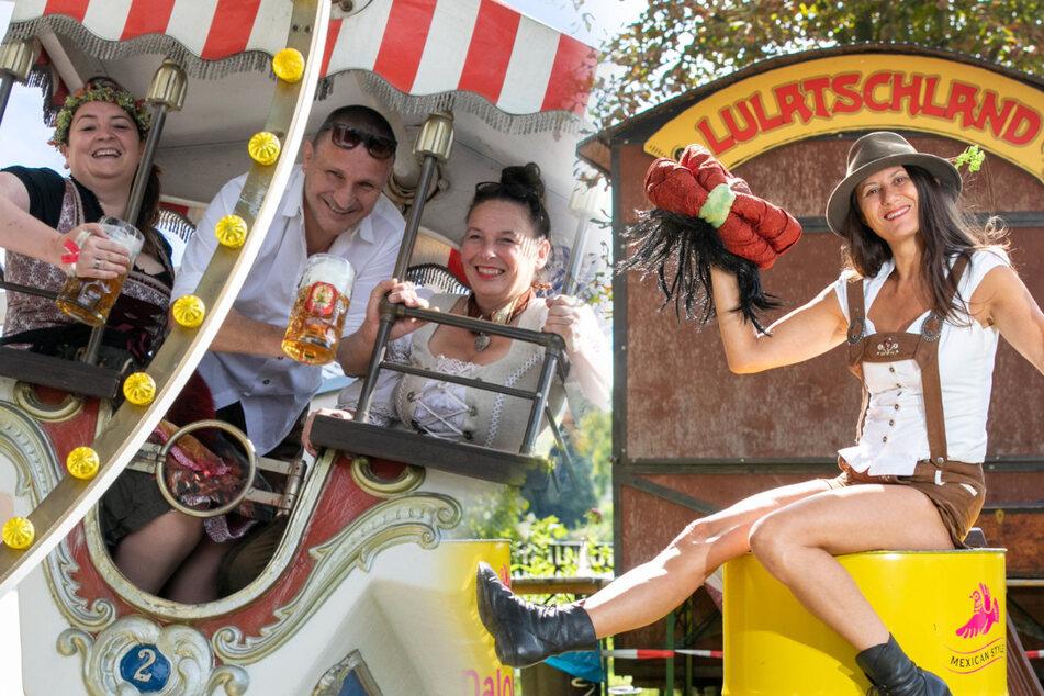 Kleines Oktoberfest: An der Elbe entsteht eine nostalgische Rummelwelt