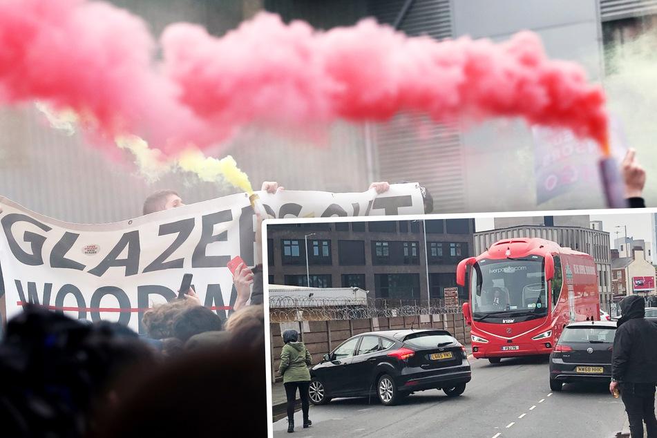 Kein Weiterkommen: Gegnerische Fans parken Bus des FC Liverpools auf offener Straße zu