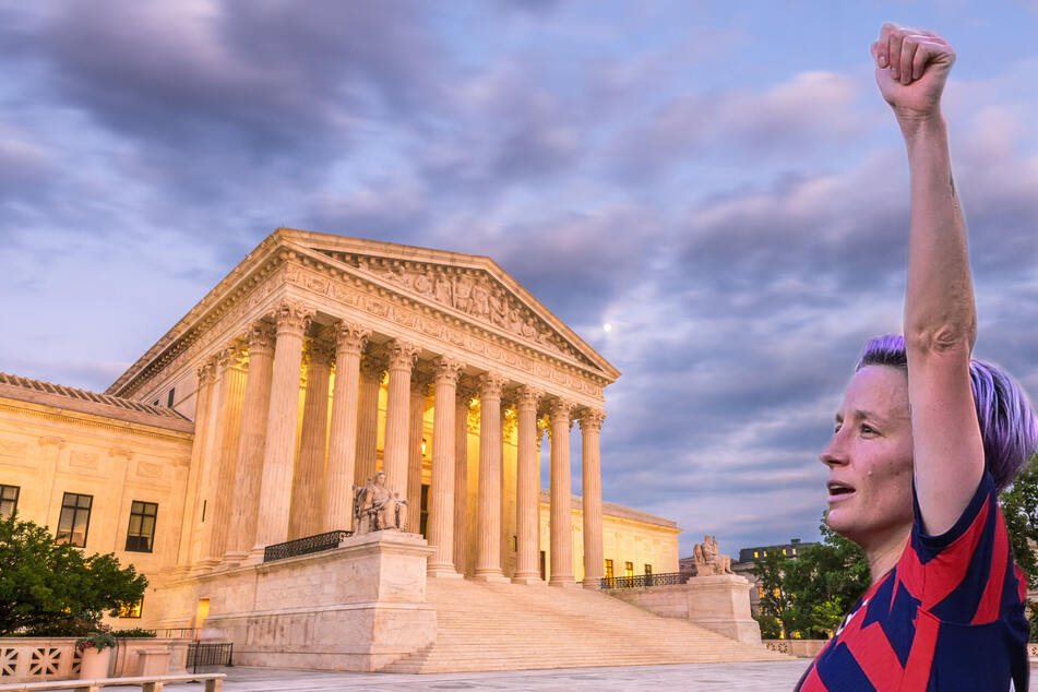Megan Rapinoe, along with over 500 other female athletes, coaches, and sports associations, signed a formal appeal to the Supreme Court to protect abortion rights (stock image).