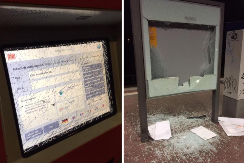 Köln: Schwere Beschädigungen am S-Bahn-Haltepunkt Frankfurter Straße in Köln!