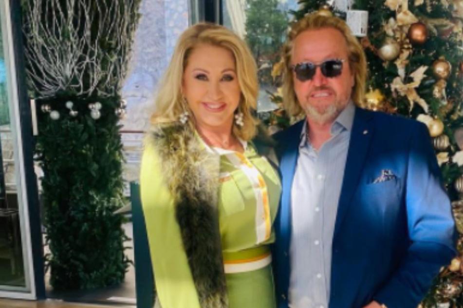 Richtig edel unterwegs: Carmen Geiss und Robert zeigen sich elegant