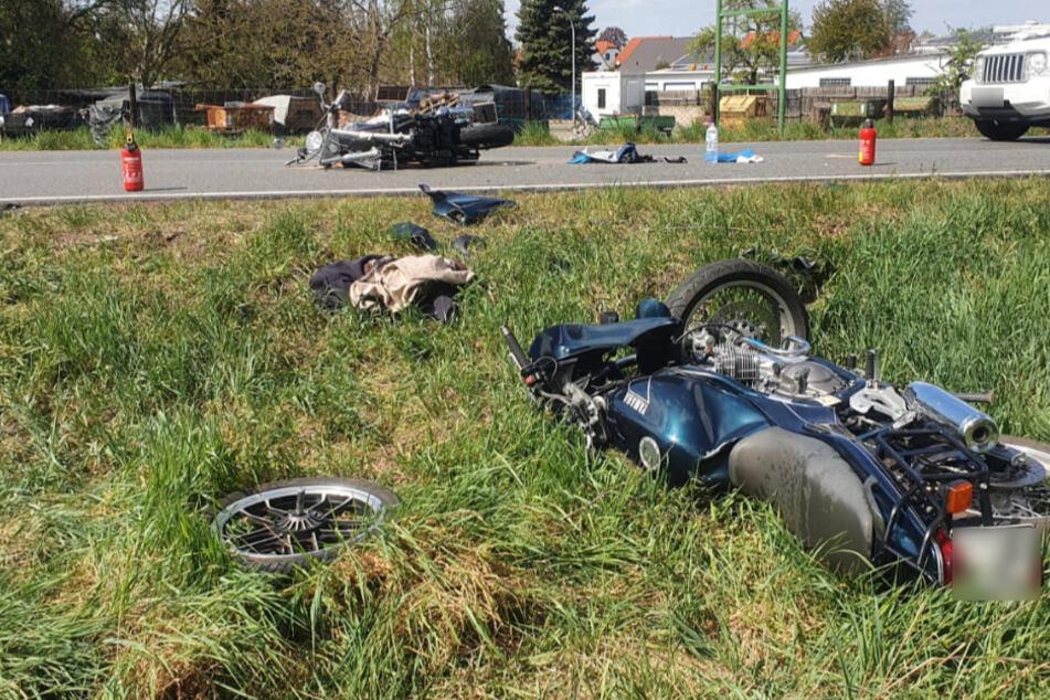 Vorderrad bei Frontalcrash abgerissen: Neue Details zum Biker-Unglück bei Leipzig