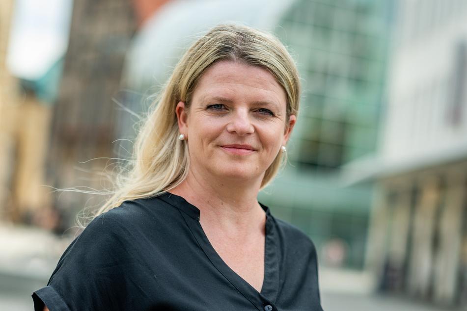 """Findet reine Männerriegen """"retro"""": Linken-Ratsfrau Susanne Schaper (42)."""