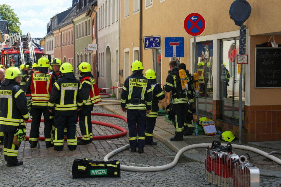 Neben der Zschopauer Feuerwehr, war auch die Feuerwehr Gornau und Krumhermersdorf im Einsatz.