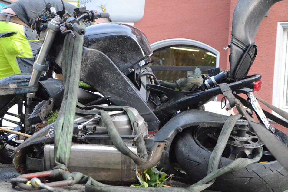Mit diesem Motorrad fuhr der nun Verstorbene.