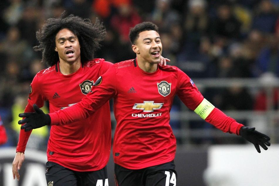 Chong (l.), neben Jesse Lingard, im Trikot von Manchester United.