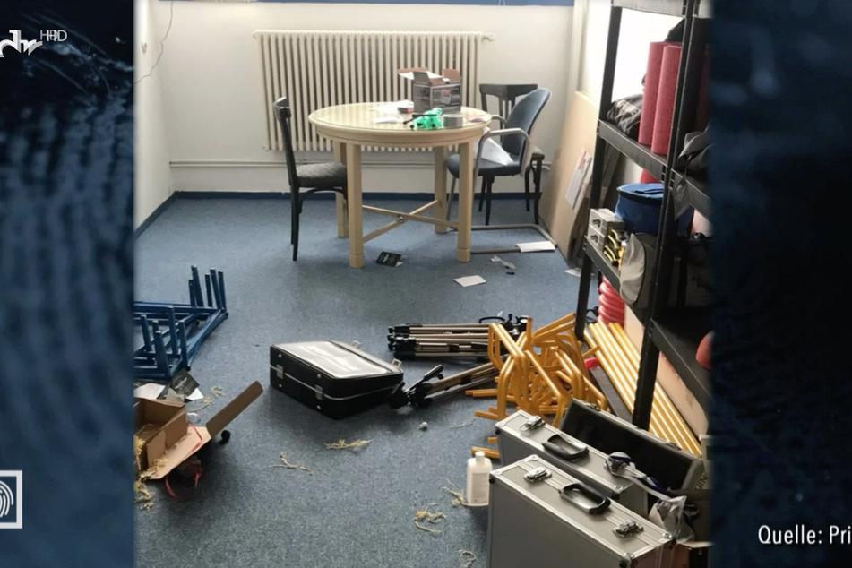 Die Einbrecher verwüsteten bei ihrem Beutezug die Vereinsräume.