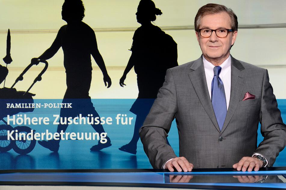 So kennen Millionen Fernsehzuschauer die Tagesschau: Jan Hofer (68) präsentiert die Nachrichten um 20 Uhr.