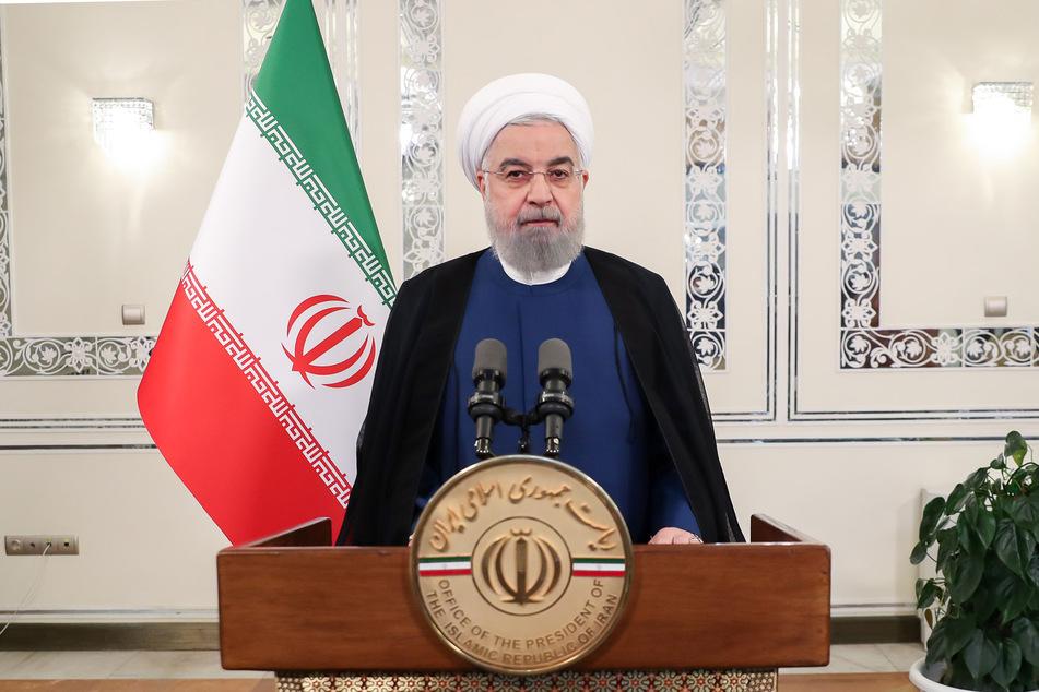 Hassan Ruhani, Präsident vom Iran, spricht während einer Aufzeichnung für eine Videobotschaft anlässlich des Beginns der Generaldebatte der 75. UN-Vollversammlung.