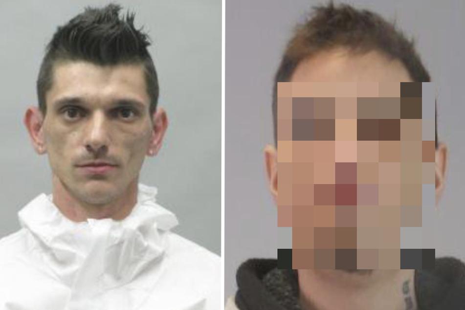 Christian Duga (36, l.) wird weiter gesucht. Einer wurde inzwischen gefasst.