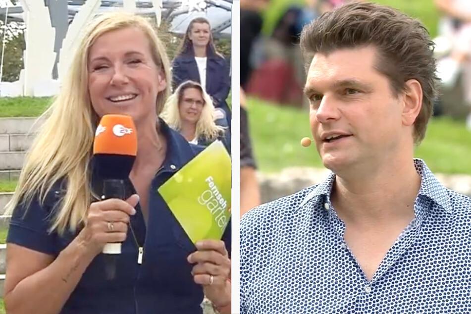 Moderatorin Andrea Kiewel (56) und Komiker Lutz van der Horst (46) sorgten am Beginn des Fernsehgartens für gefühlt sehr lange Minuten.