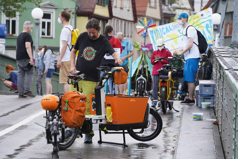Demonstranten am Donnerstag in Bad Cannstatt.