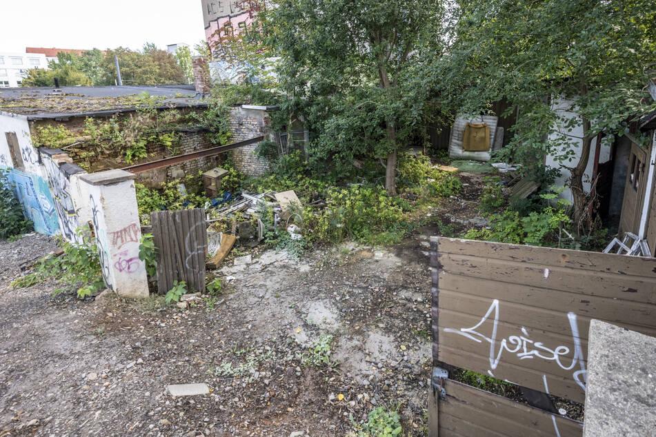 Auch hinten pfui: Im Hinterhof des Grundstücks an der Bernsdorfer Straße liegen Bauschutt, Unrat und Hausmüll.
