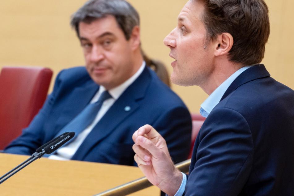 Grünen-Fraktionschef Ludwig Hartmann (42, r.) findet angesichts der Coronavirus-Lage klare Worte.