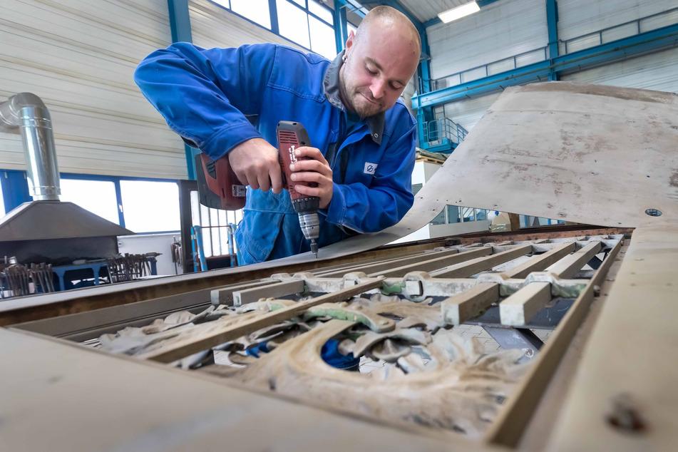 Bereits 4 Mio. Euro hat die Stadt Aue-Bad Schlema in die Sanierung der Wellner-Werke gesteckt.