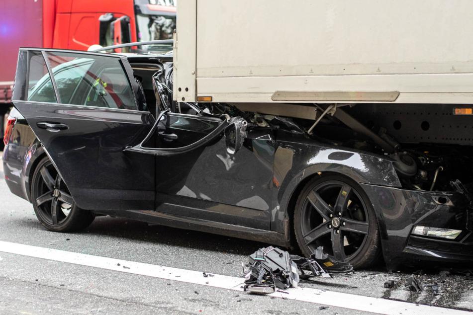 Der Unfall ereignete sich am Ende eines Staus auf der A3.