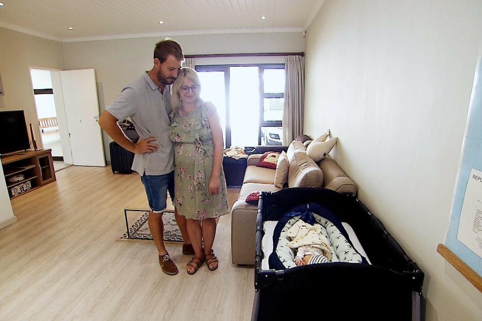 Glücklich zu dritt: Anna (30) und Gerald Heiser (35) haben endlich ein gesundes Kind.