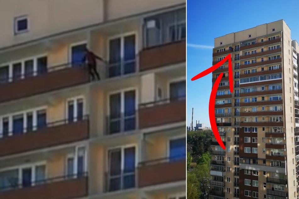 Corona-Quarantäne: Männer schockieren Nachbarn mit Sprung aus 20. Etage