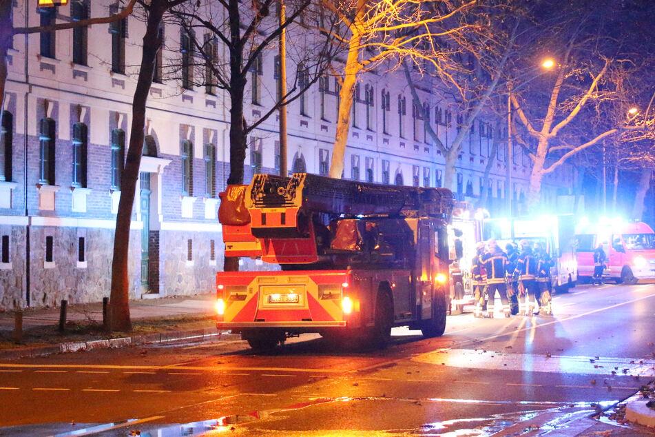 Die Feuerwehr musste nach Eutritzsch ausrücken.