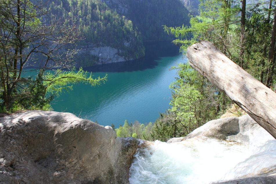 Die Gumpen am Königsbach-Wasserfall bei Schönau am Königssee.