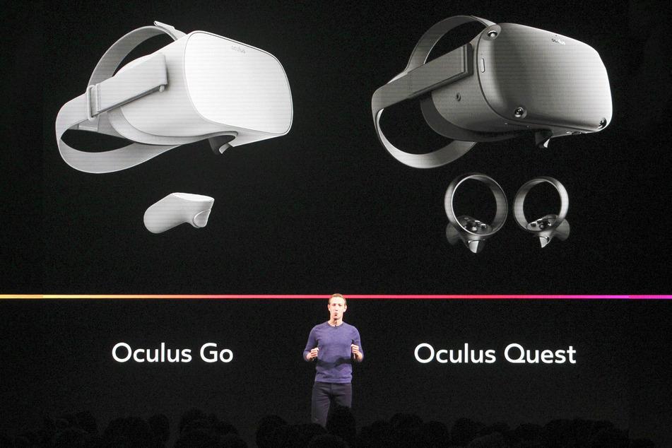 Mark Zuckerberg, Vorstandsvorsitzender von Facebook, stellt die VR-Brille Oculus Quest vor.