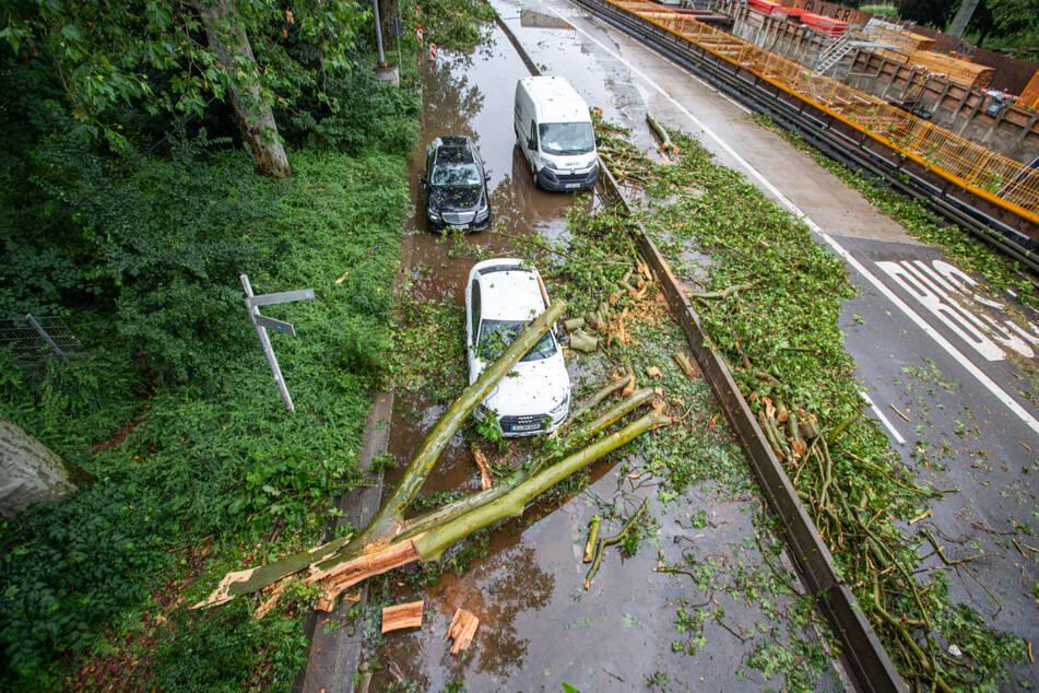 Heftige Unwetter hatten in der Nacht zum 29. Juni in Baden-Württemberg unter anderem Bäume umstürzen lassen und für Überschwemmungen gesorgt. Meteorologen rechnen nun erneut mit stundenlangem starken Regen, Hagel und auch Sturmböen.