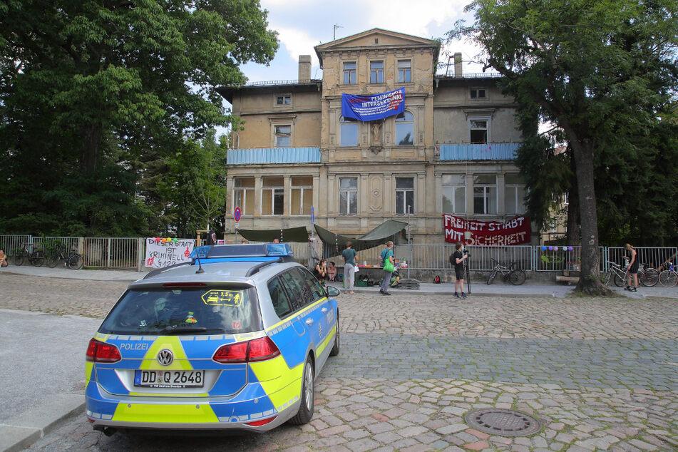 Die Hausbesetzer des Objektes an Jägerstraße 10A wollen mit ihrer Aktion den Leerstand in Dresden bekämpfen.