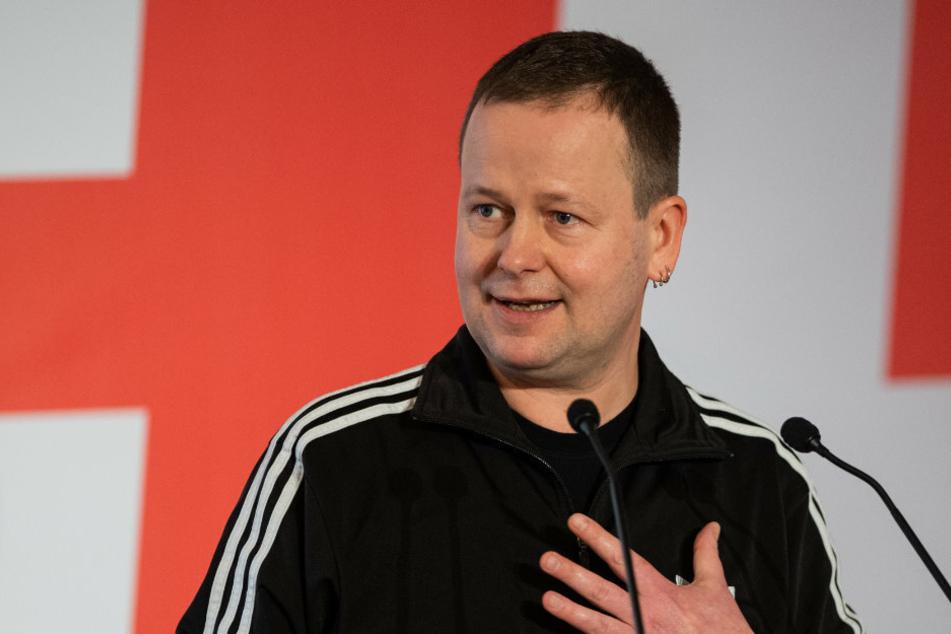 Klaus Lederer (Die Linke), Berlins Senator für Kultur und Europa, spricht auf dem Landesparteitag der Linken.