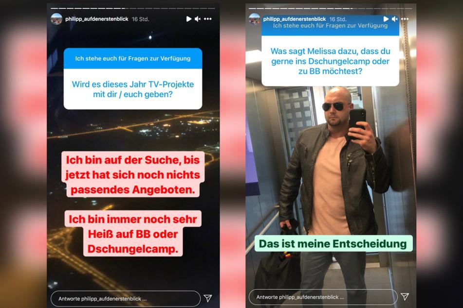 Auf Instagram stellt sich Philipp (34) den Fragen der Fans.