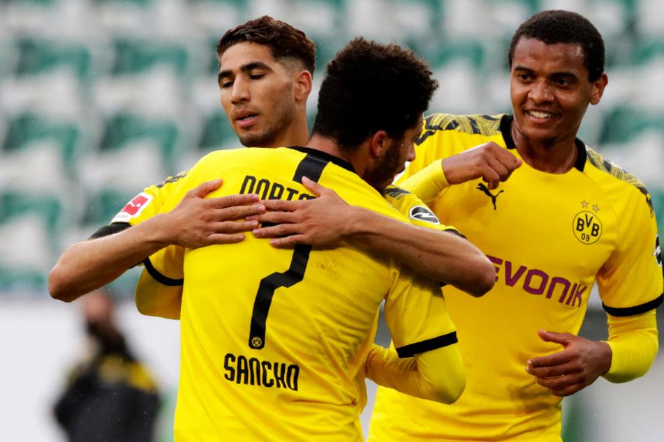 Achraf Hakimi zeigte bei seinem Treffer zum 2:0 seine Qualitäten. Jadon Sanchos Kurzeinsatz sorgt in Dortmund ebenfalls für positive Stimmung.