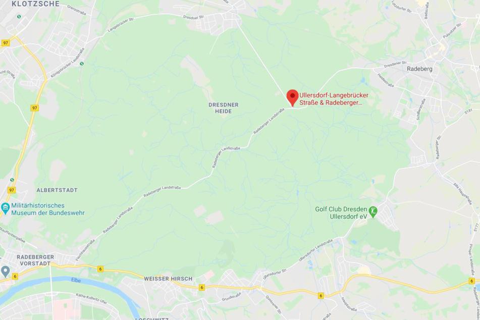An dieser Kreuzung im Norden der Dresdner Heide geschah der Unfall.